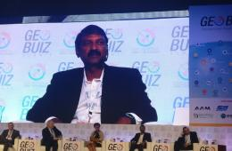 Mr Rajesh Alla, CMD speaking at Geobuiz event #GWF2018
