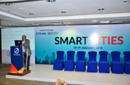 Mr Praveen Gautam, Senior Manager - Technical, IIC Technologies, speaking at the smart cities session at #GWF2018