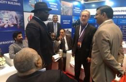 Michael A N N Oquaye Esq. High commissioner,  The High Commission of the Republic of Ghana at the IIC Technologies booth #GWF2018
