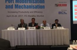 Cdr Sanjeev Sharma, AVP Ports and Water and Mr. Praveen Guatam, Senior Manager, Technical from IIC Technologies taking part in the discussion.