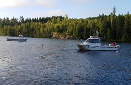 IIC Technologies survey boats at a survey site in finland