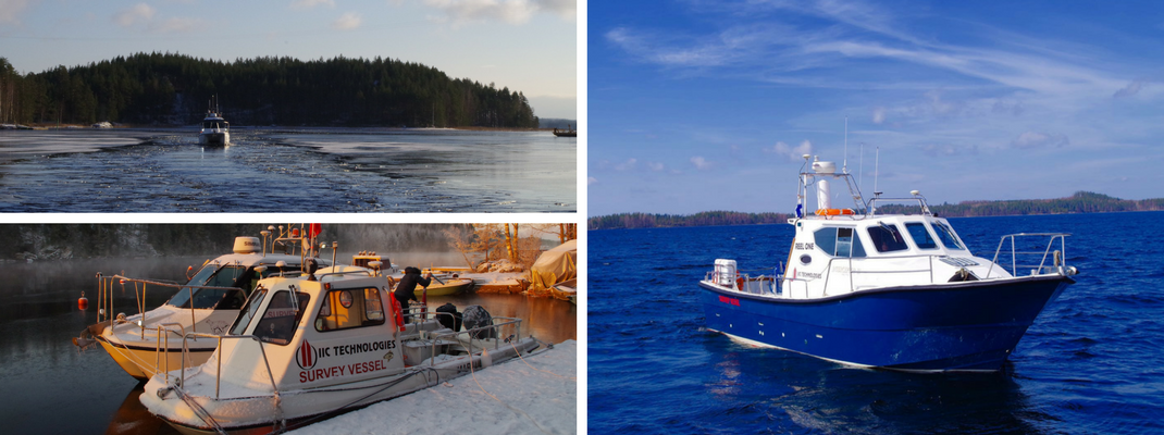 IIC Technologies bathymeteric survey vessels in Finland