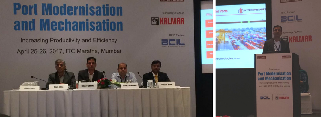 IIC Technologies at the Port modernisation and mechnisation conference, Mumbai.